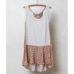 Anthropologie Petalled Peplum Top in Natural